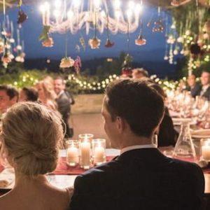 Our fairylights for a wedding in san gimignano