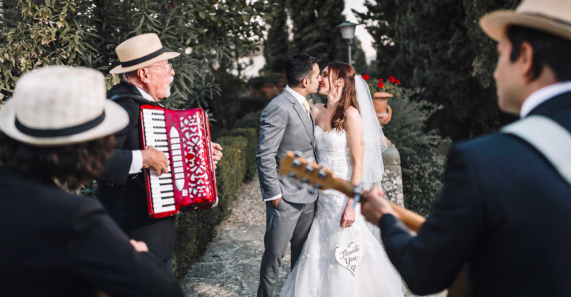 Folk Trio for a wedding in a tuscan castle