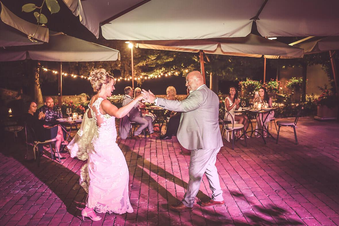 Light and Deejay for wedding in Dievole -Tuscany